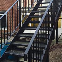 metal stairwell